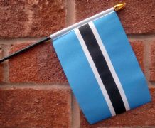 HAND WAVING FLAG (SMALL) - Botswana